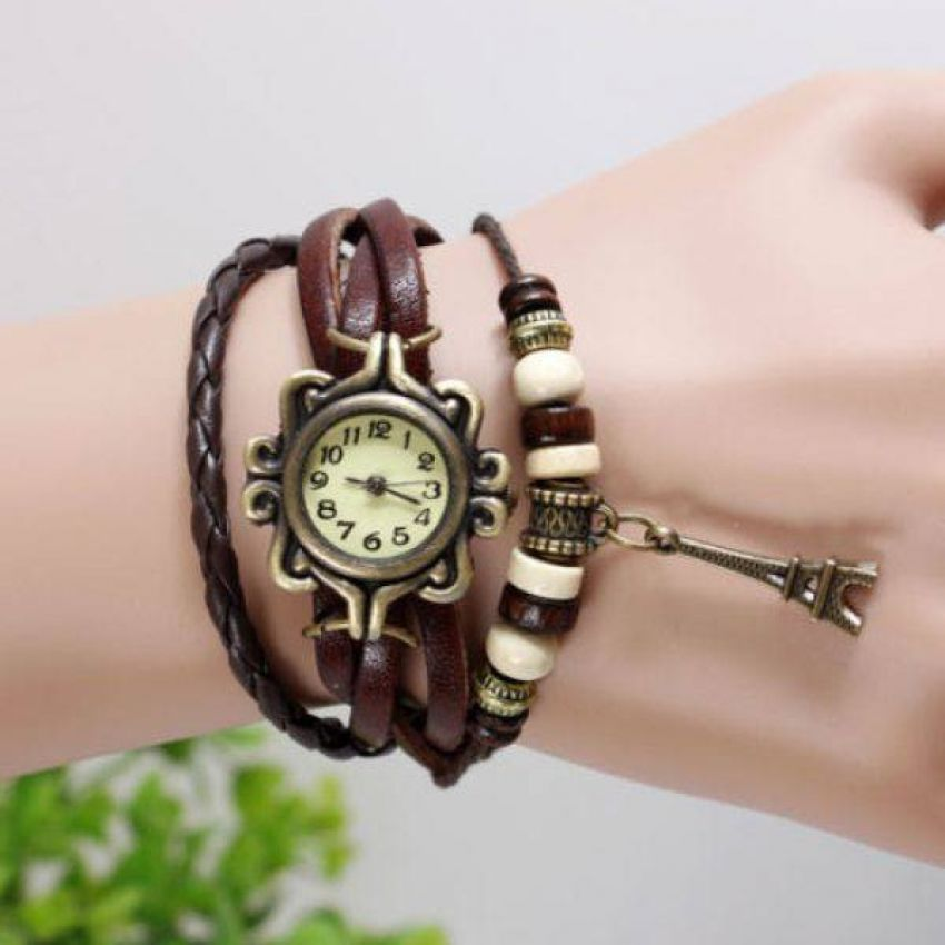 Pack of 2 Leather Bracelet Watches