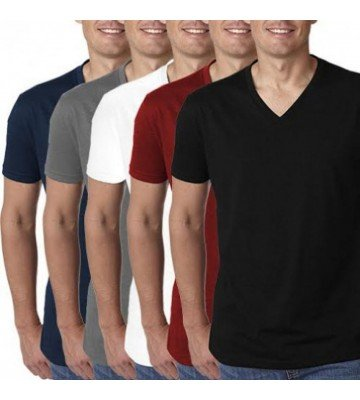 Pack of 5 V-Neck Half Sleeves T-Shirts In Pakistan