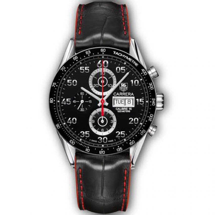 0e980c58aaae Tag Heuer Carrera with Black Leather Strap in Pakistan | GetNow.pk
