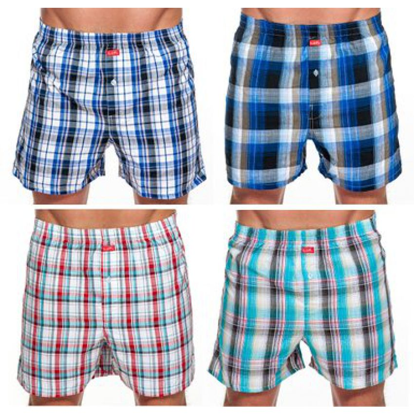 Pack of 4 Men's Checkered Boxers In Pakistan