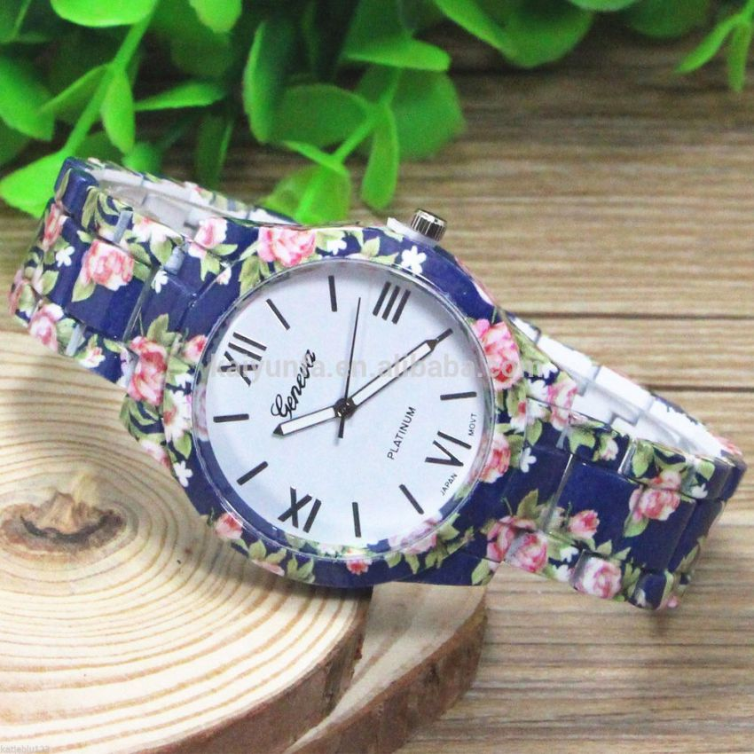 Blue Floral Watch Geneva Price in Pakistan