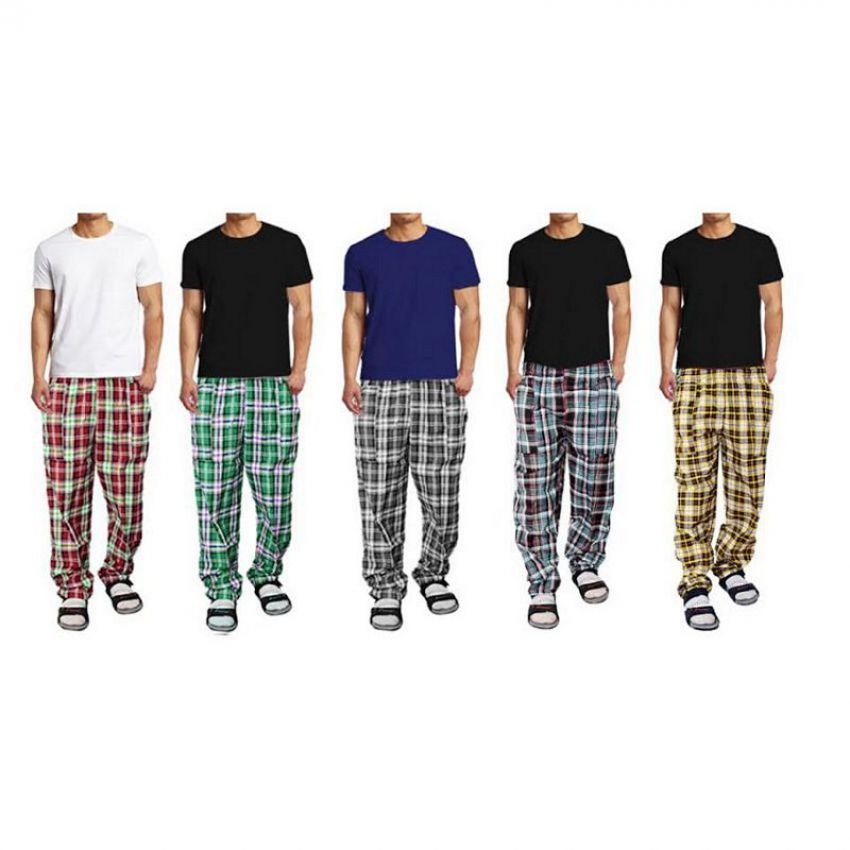 Pack of 5 Checkered Pajamas In Pakistan