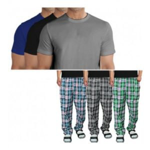 Pack Of 3 Plain T Shirts + 3 Pajamas SUMMER DEAL in Pakistan