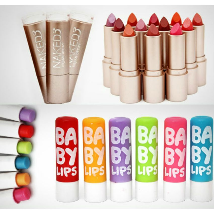 Pack Of 12 Naked 3 Lipsticks & 6 Baby Lips Balm Free In Pakistan