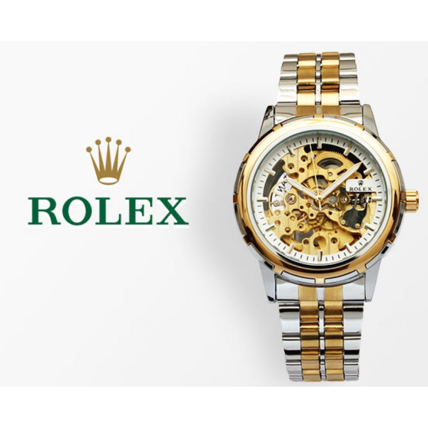 Rolex Skeleton Automatic Two-Tone Wrist Watch in Pakistan