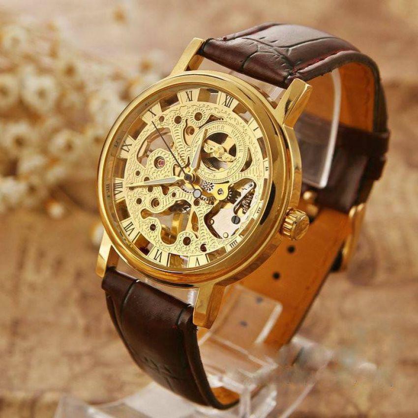 Rolex Skeleton Transparent Gold Watch in Pakistan