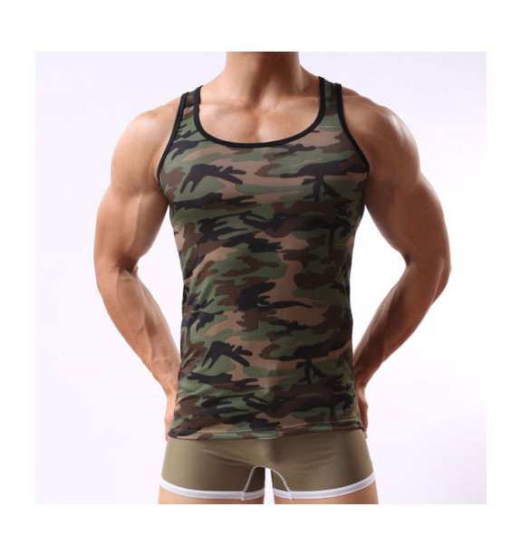Men's Army Camouflage Muscle Shirt In Pakistan