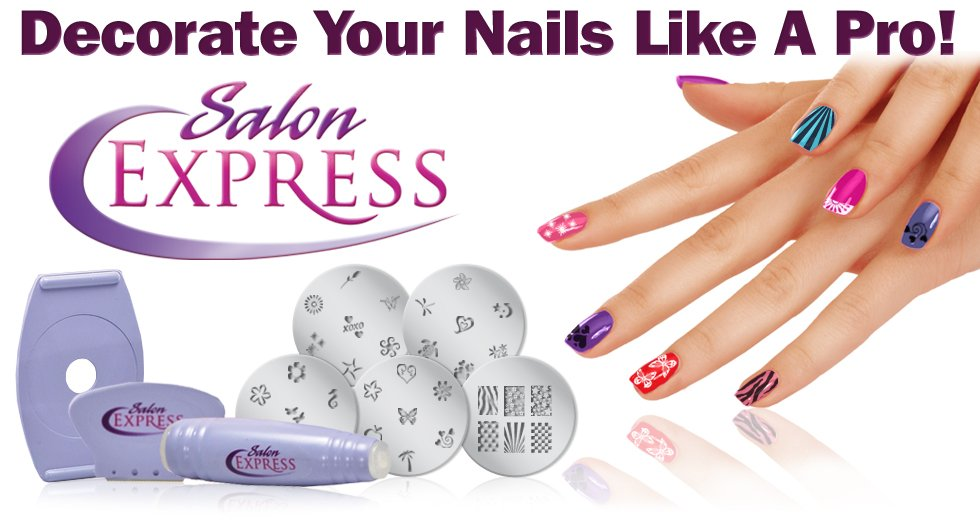 Salon Express – Nail Art Stamping Kit in Pakistan