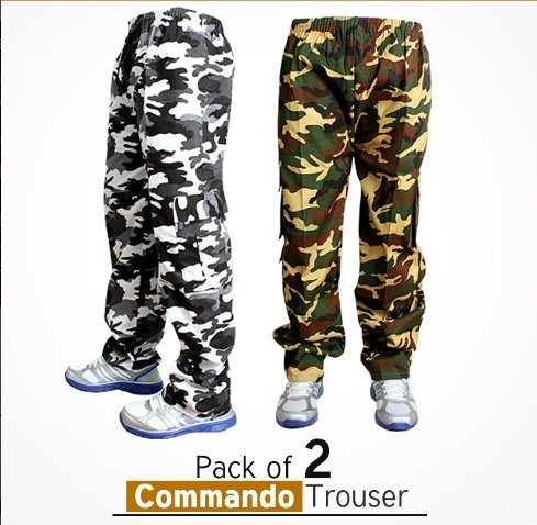 Pack Of 2 Commando Trousers In Pakistan