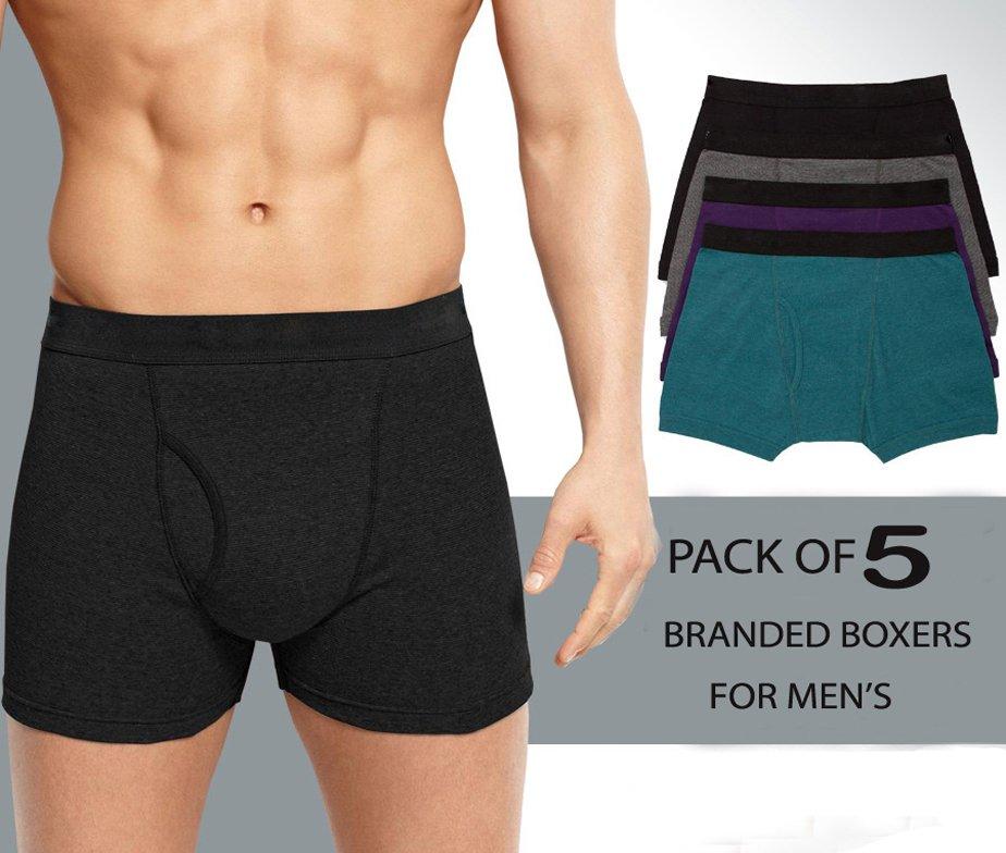 Pack of 5 Men's Boxers Underwear in Pakistan
