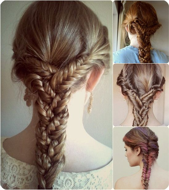 Fishtail Plait Ponytail Hair Extension Braid