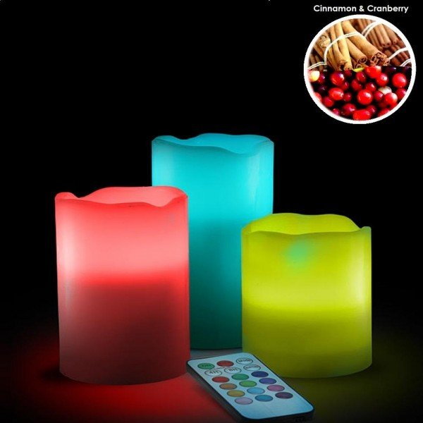 Remote Controlled Led Scented Candles in Pakistan